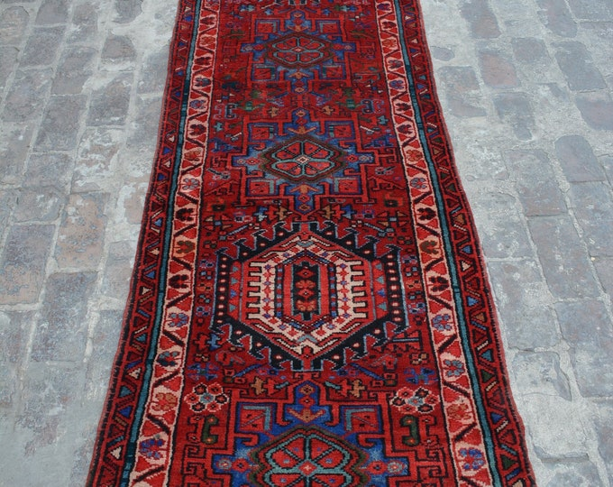 Antique Nadiry caucasian Handmade Rug runner - Elegant turkish style rug runner