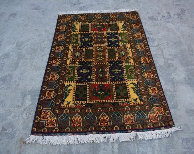 FREE SHIPPING - Elegant Afghan Turkoman Bakhtiyar hand knotted rug / Decorative home decor rug 100% wool From Afghanistan