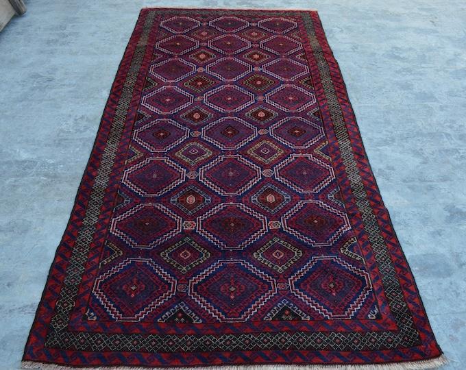 Elegant Handmade Afghan vintage Woolen area rug / 100% wool tribal hand knotted rug / Afghan baluchi rug Filpai Naqsha