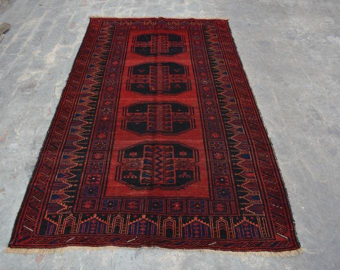 Vintage Afghan tribal Suleymani Filpai rug / baluch rug 100% wool