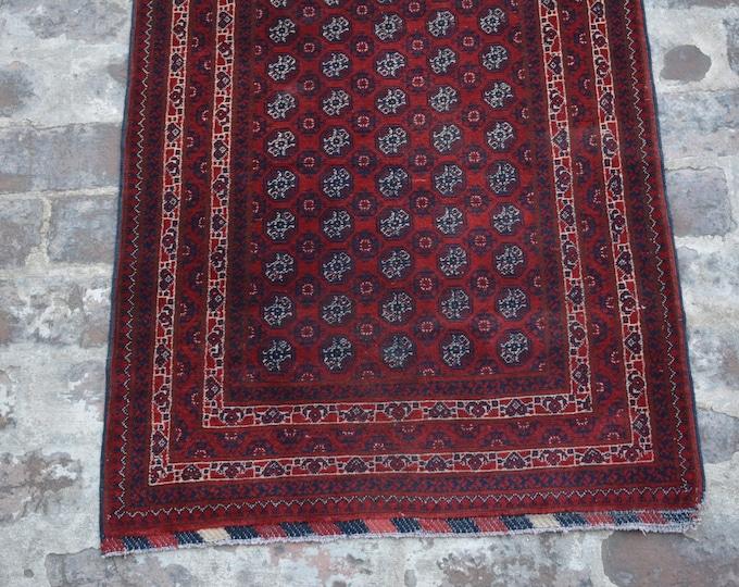 Afghan turkoman Khoja roshnai handmade wool rug runner / Decorative rug runner vintage afghan traditional rug runner