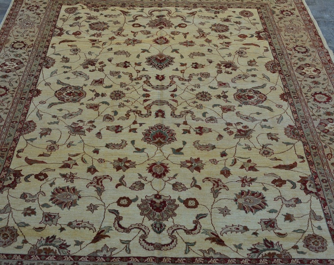 Hand knotted Afghan Chobi rug / decorative rug vintage afghan rug/ Oushak rug