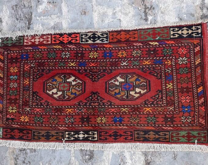 1'6 x 3'0 ft. Vintage Afghan Traditional jalar wall decor kilim, Wall hanging kilim decor, FREE SHIPPING