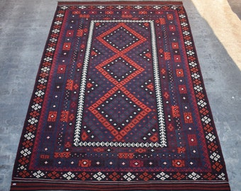 Elegant Afghan Kilim, Turkish kilim, area rug , Large kilim Rug , Tribal Kilim rug, 8'5 x 12'11 Ft