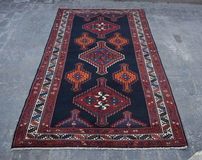 Semi Antique  Design Tribal Caucasian carpet/ Decorative rug Caucasian traditional rug / stunning bohemian decor rug / Anatoliyan rug