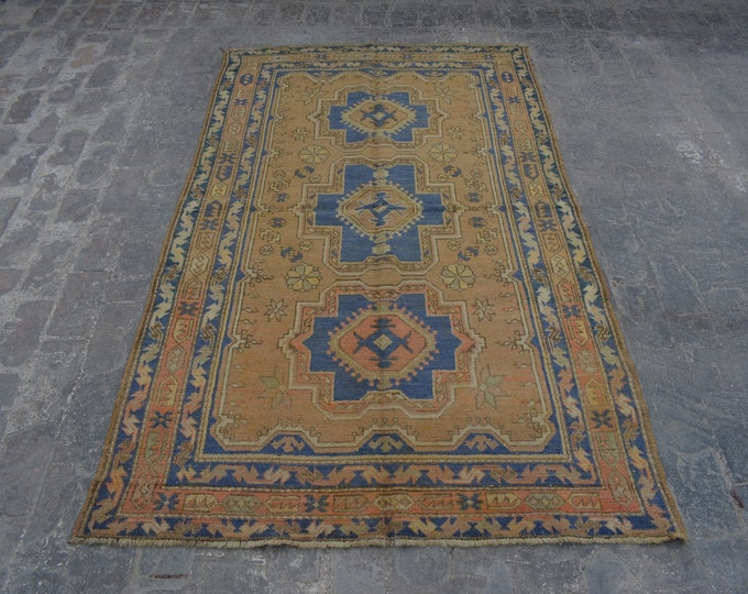 Antique geometric Design Tribal kapkaz carpet/ Decorative rug Caucasian traditional rug / stunning bohemian decor rug