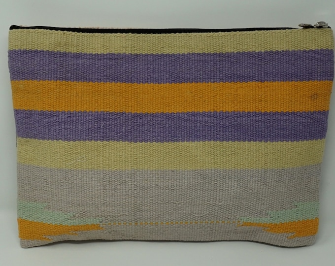 Handmade wallet kilim bag / tribal handbag