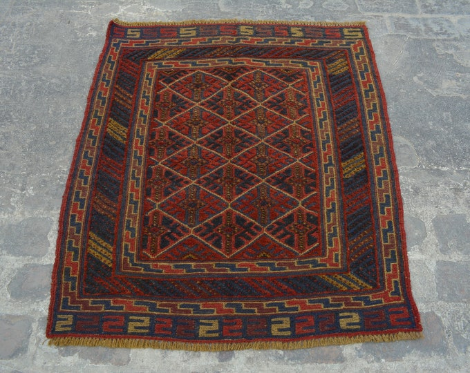 Vintage Elegant Afghan tribal mushwani kilim rug / mixture of kilim and rug - Decorative tribal nomadic kilim rug / bohemian mishwani kilim
