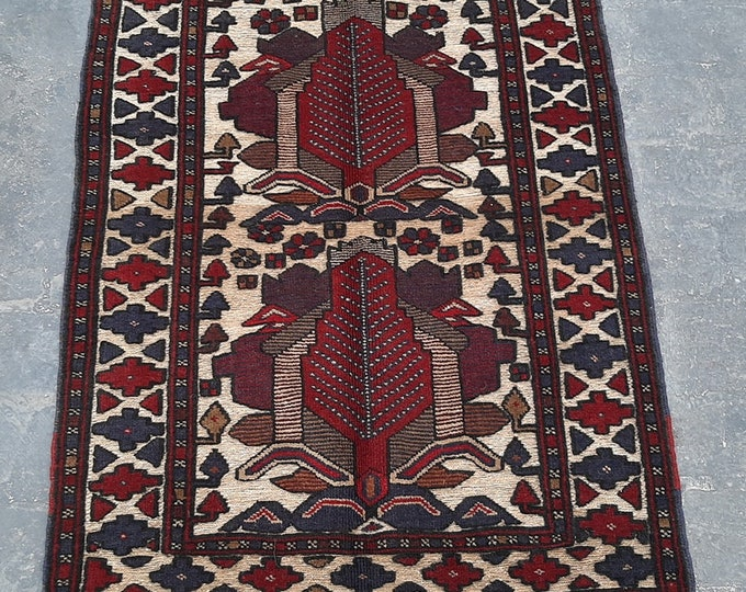 3'0 x 4'9 ft. Afghan Tribal handmade Burjesta kilim rug, Free Shipping