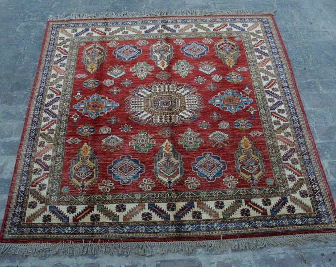 Hand knotted Afghan turkoman super kazak rug / decorative rug traditional afghan hand knotted kazak rug 100% wool bohemian decor rug
