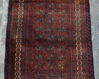 Semi antique turkoman teke rug 100% wool
