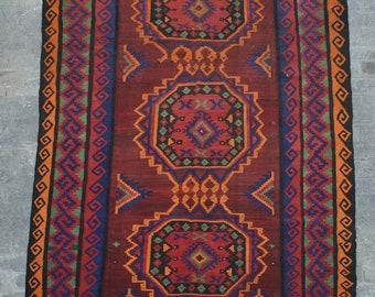 Large Vintage Elegant tribal afghan ghalmori kilim