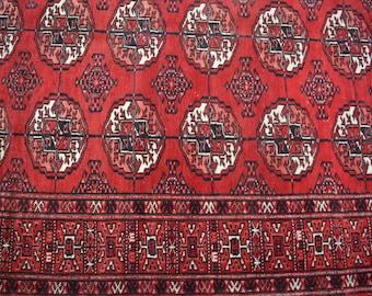 Semi antique turkoman teke rug 100% wool / nomadic hand knotted rug best quality tekke rug / decorative tribal turkoman sehrah rug