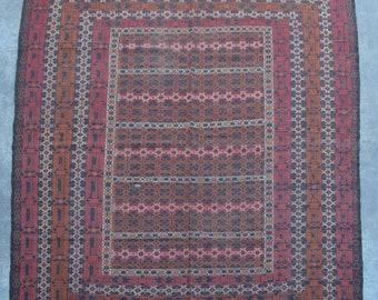 Elegant afghan vintage adreskan kilim