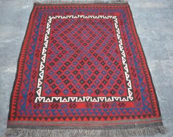 Stunning handwoven tribal Afghan hazara Ghalmori kilim / Traditional kuchi kilim decorative Turkish kilim/ Bohemian Afghan kilim rug