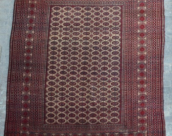 Large Semi Antique Bokhara area rug / decorative tribal handmade rug