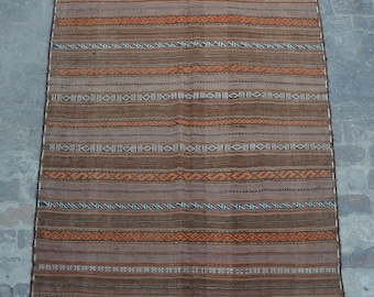 Vintage Afghan handwoven Sumak Qalati / Decorative Afghan Traditional kilim rug 100% wool