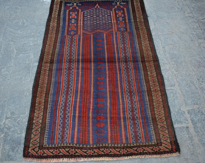 vintage Kawdani Afghan Nomadic tribal handmade wool prayer rug / Decorative rug vintage afghan traditional kawdani prayer rug