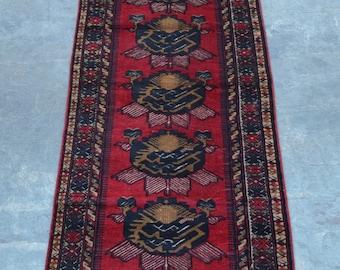 Elegant Vintage Mixture kilim rug runner