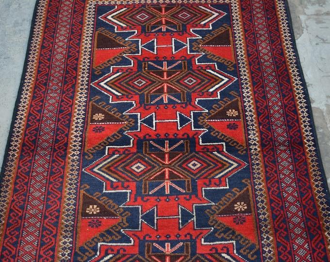 Vintage Afghan Maldari baluchi tribal handmade wool rug / Decorative rug vintage afghan traditional rug