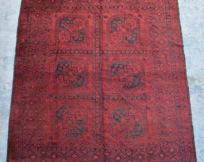 Free shipping 7'4 x 9'0 feet Semi Antique Afghan filpai balochi tribal handmade rug / This Nomad's rug will add Extra beauty to your space