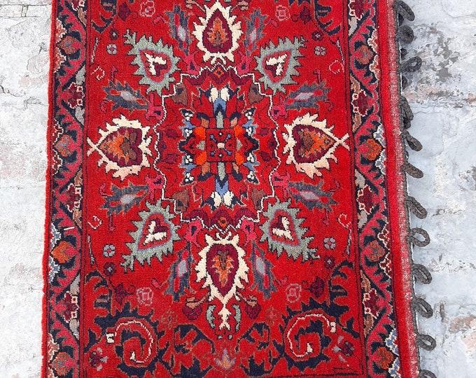 1'7 x 2'8 ft. Vintage Afghan Tribal handmade Khorjin Cushion rug, Large Cushion cover