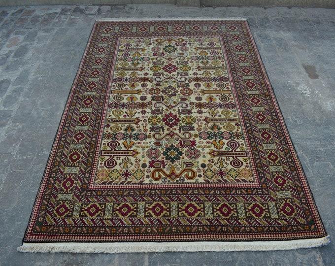 COLLECTORS' ITEM Kayseri turkish Tribal carpet/ Decorative rug Caucasian style traditional rug / tribal turkish anatoliyan rug