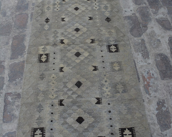 Large Afghan Ghalmori neutral kilim rug decorative rug kilim runner