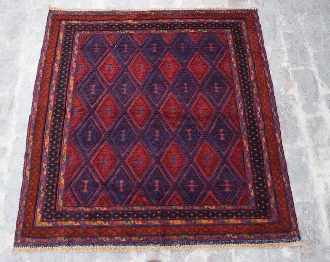 Afghan mishwani rug, kilim rug, Tribal kilim rug, home decor Rug