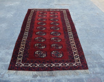 best quality Vintage Afghan turkoman tribal chobbash handmade wool rug / Decorative rug vintage afghan traditional rug