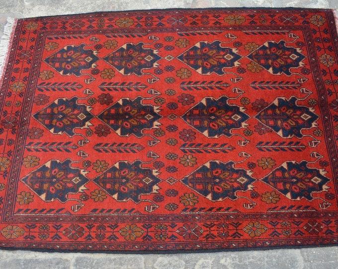 Vintage Afghan turkoman tribal Khalmohammadi handmade wool rug / Decorative rug vintage afghan traditional rug