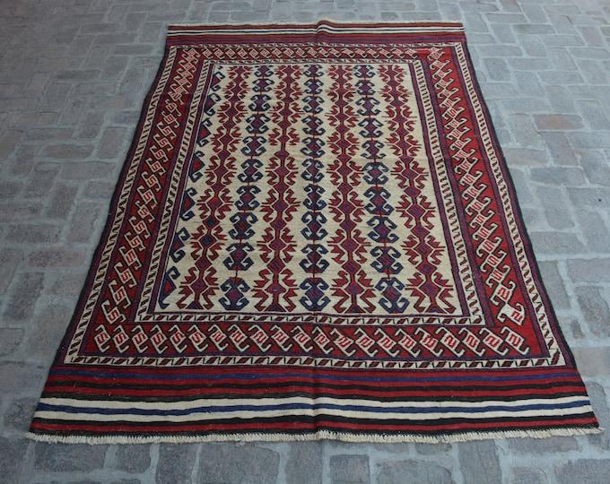 Beautiful Handwoven Afghan Sumak Kilim Rug/ Free Shipping/ 164 x 264 cm