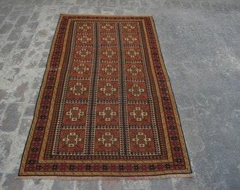 Vintage Afghan handwoven Sumak Qalati / Decorative Afghan Traditional kilim rug 100% wool / afghan nomadic kilim rug