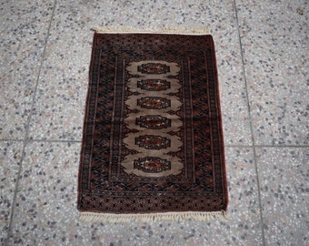 2'0 x 2'10 afghan wool rug - kitchen rug - accent piece rug - free shipping - afghan tribal rug