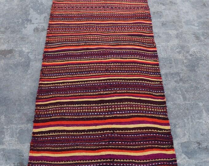 Colorful Suzani kilim, Embroidery runner, Uzbek kilim, Turkish kilim, Cicim kilim,
