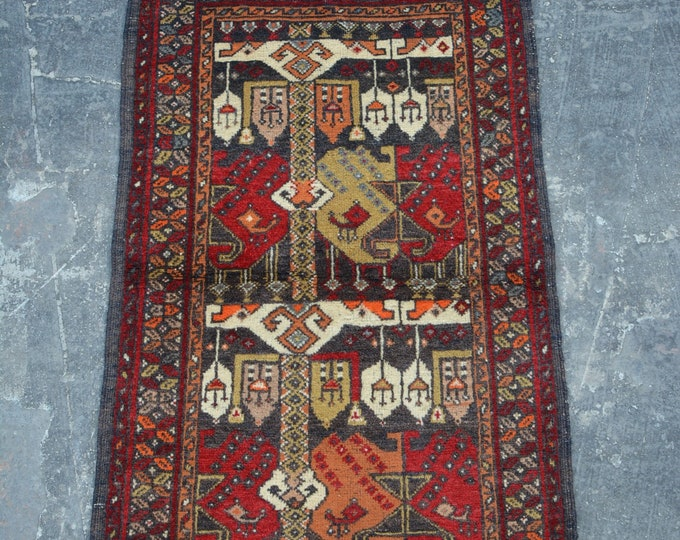 Vintage Afghan turkoman tribal Alamakhamal handmade wool rug / Decorative rug vintage afghan traditional rug