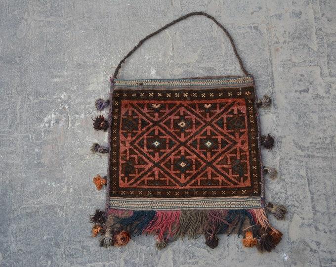 Vintage handmade Saltbag rug / Saltbag kilim