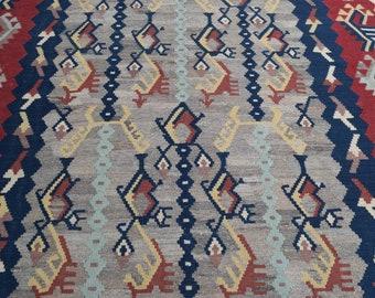 200 x 300 Large Afghan handwoven kilim - modern kilim - living room rug - dining room rug - turkish kilim rug - traditional kilim rug