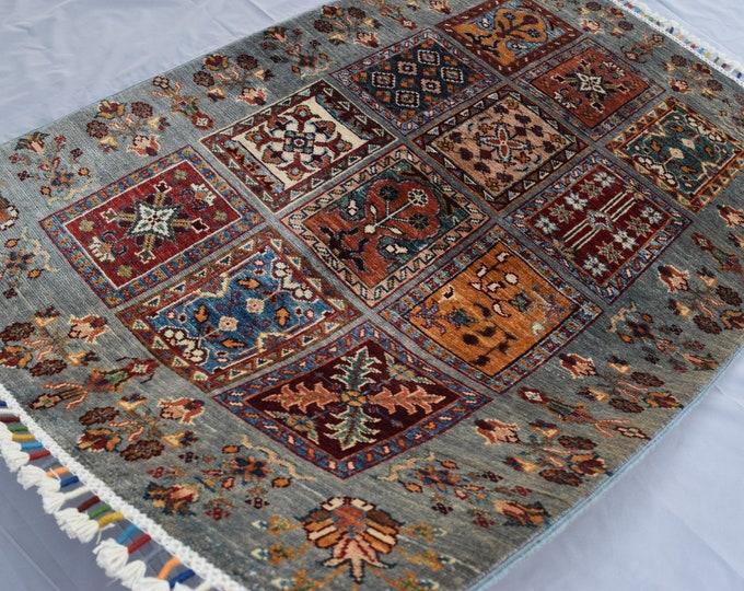 Tribal Ayna Rug - Multicolor Afghan Hand Knotted wool Rug - Bathroom rug - Entryway rug - 89x130 carpet - Bedroom rug - Kitchen rug