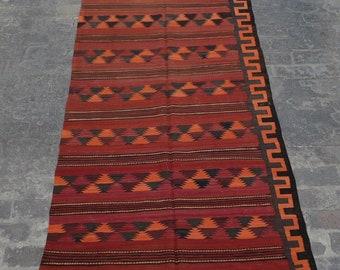 Vintage Stunning handwoven tribal Afghan hazara Maldari kilim runner / Traditional kuchi kilim decorative Turkish kilim