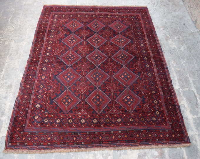 Square Afghan mishwani rug, kilim rug, Tribal kilim rug, home decor Rug
