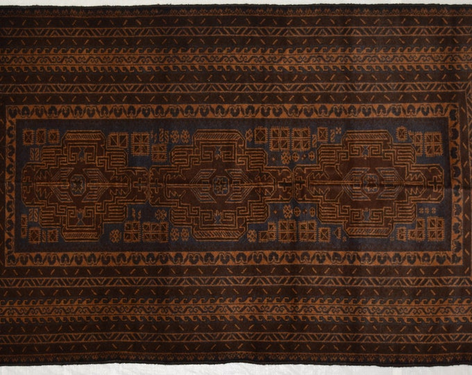 Nomad's Afghan tribal hand knotted rug 100% wool / decorative home decor rug elegant hand knotted baluchi rug / kuchi rug