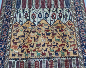 5'7 x 7'7 ft Elegant super Quality hand knotted Afghan Ayna Rug decorative this rug will make your room even more beautiful