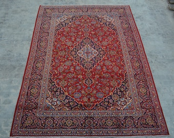 COLLECTOR'S - Large Semi Antique Hand knotted Area rug / Home decor rug Caucasian Good Quality Authentic Traditional rug