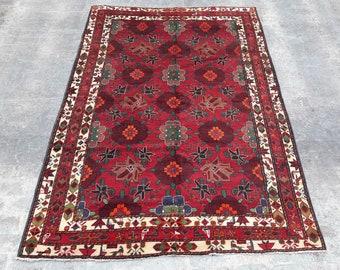 "6'11 x 9'10"" ft. Vintage Handmade Caucasian Tribal Rug, Free shipping"