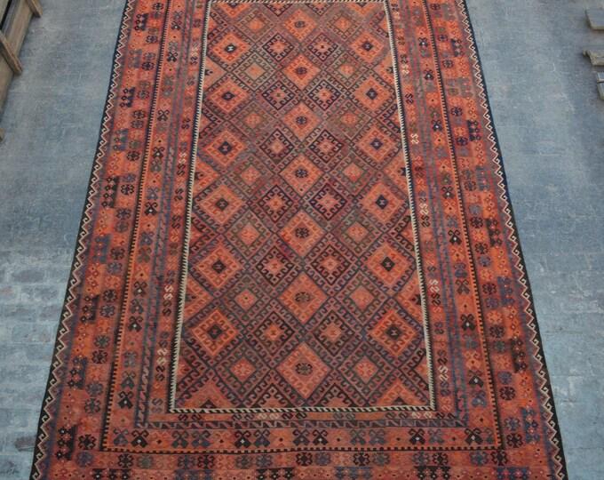 "9'6 x 15'7"" ft. - Vintage Large Afghan Ghalmori kilim Rug, Tribal handwoven kilim"