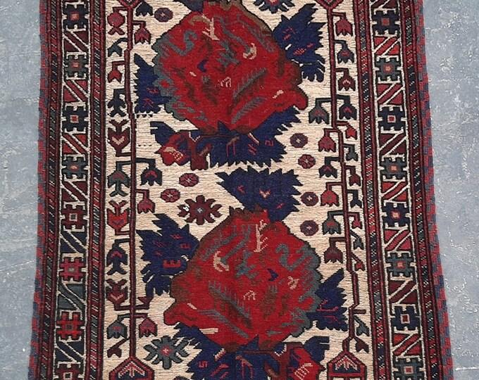 3'2 x 4'10 ft. Afghan Tribal handmade Burjesta kilim rug, Free Shipping