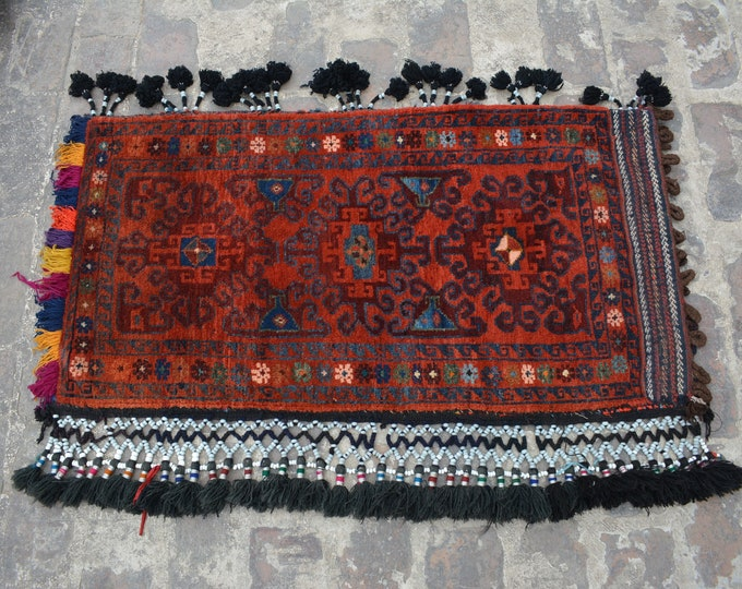 Turkoman Natural Dye Soft Woolen Afghan tribal floor Balisht Cushion /Tribal Baluch Balisht Cushion Cover Sistan Soft Woolen Pillow