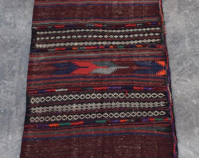 Vintage Afghan Sofreh kilim runner, Turkish kilim, Flat weave kilim, rug kilim, tribal kilim