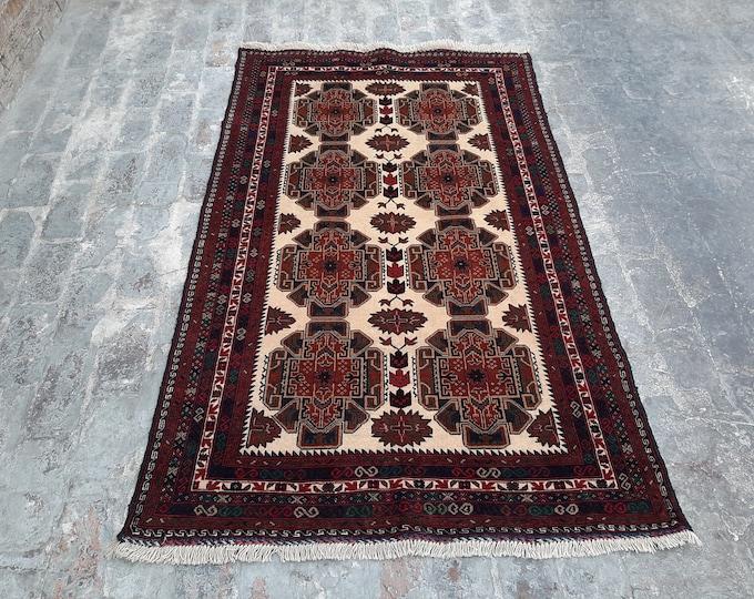 Handmade Afghan tribal Rug, Free Shipping
